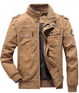 LABEYZON Men's Outdoor Casual Cotton Bomber Jacket Tactical