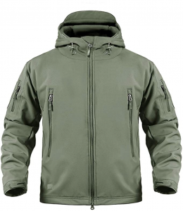 CRYSULLY Men's Outdoor Climbing Windproof Tactical Soft Shell Jacket